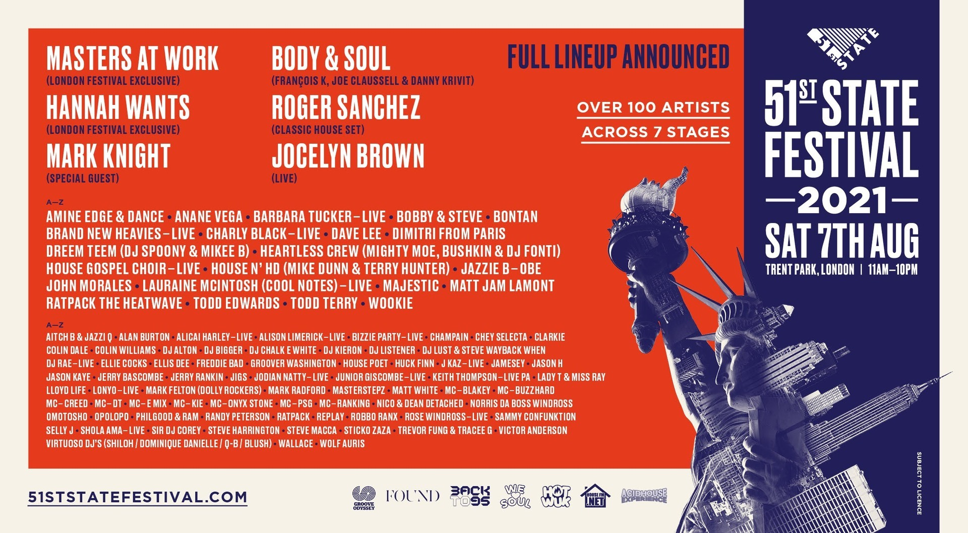 51st State Festival in London August 2021 - 51st State Festival in London August 2021