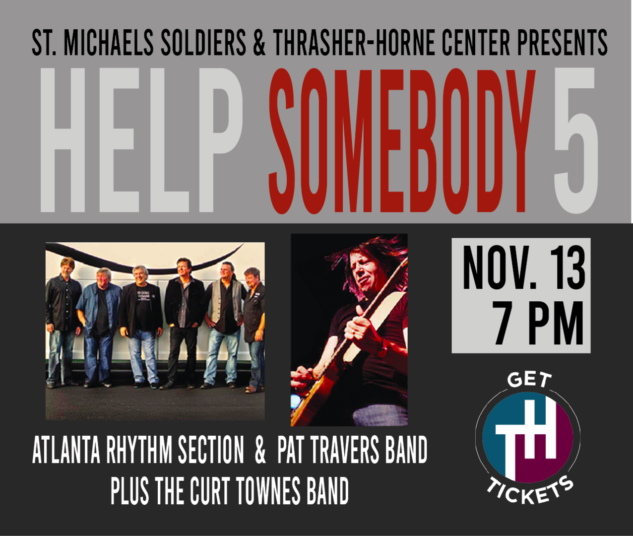 Help Somebody 5: Atlanta Rhythm Section Pat Travers and the Curt Towne Band