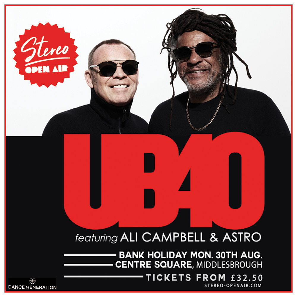 UB40 Featuring Ali Campbell & Astro at Centre Square, Middlesbrough