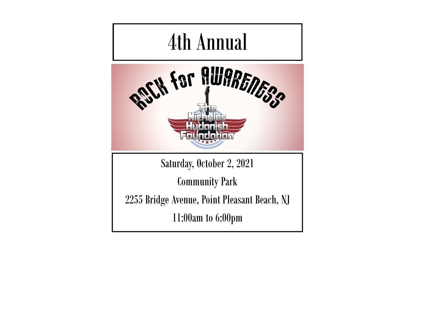 4th Annual Nicholas Hudanish Rock for Awareness