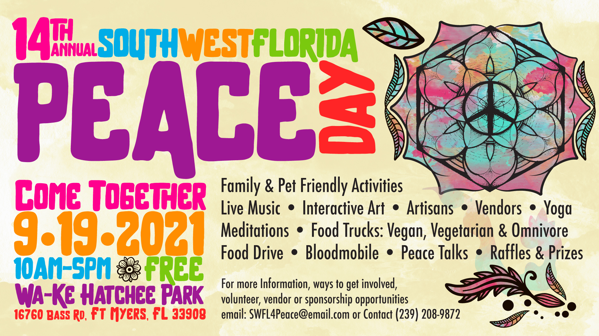 14th Annual SWFL PEACE DAY CELEBRATIONS