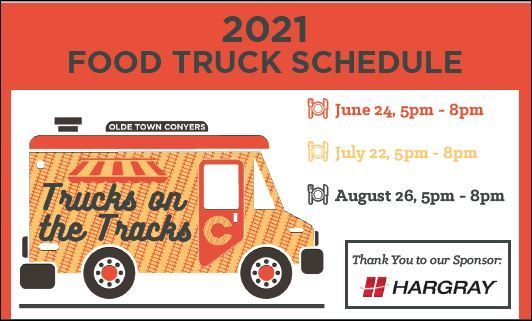 Olde Town Conyers Trucks on the Tracks Food Truck Event