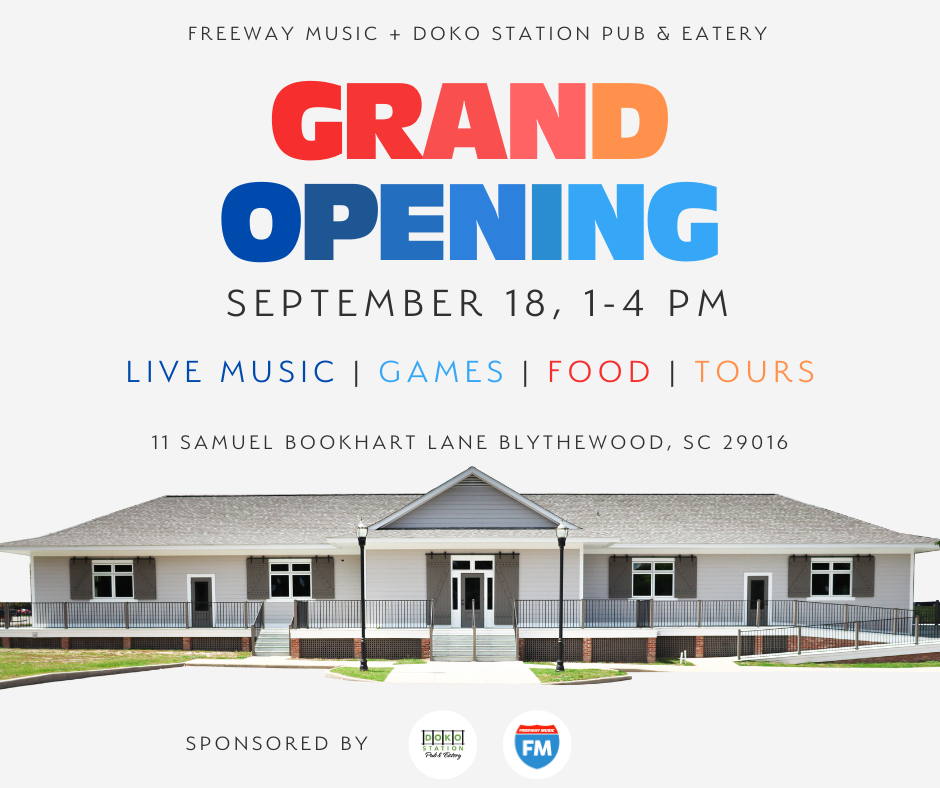 Grand Opening - Freeway Music and Doko Station Pub and Eatery