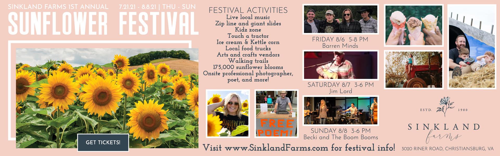 Sinkland Farms 1st Annual Sunflower Festival
