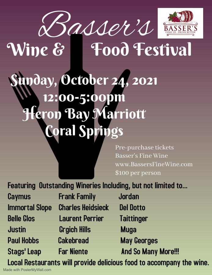 Basser's Wine & Food Festival