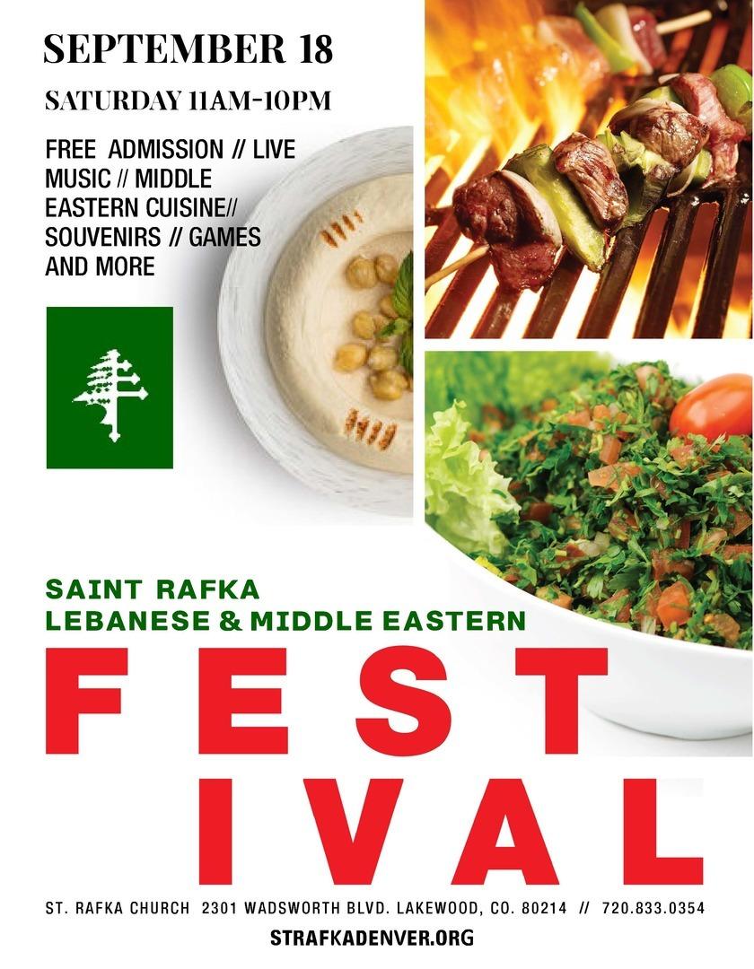 Saint Rafka Lebanese and Middle Eastern food festival