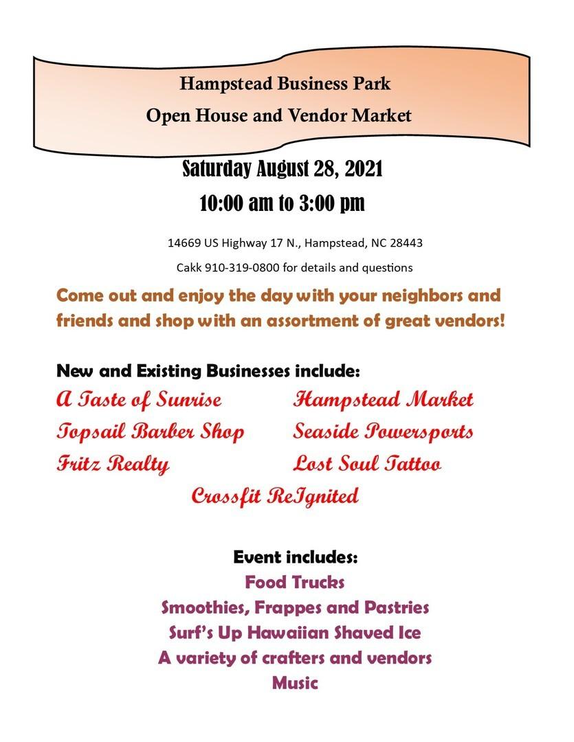 Hampstead Vendor Business Park Open House