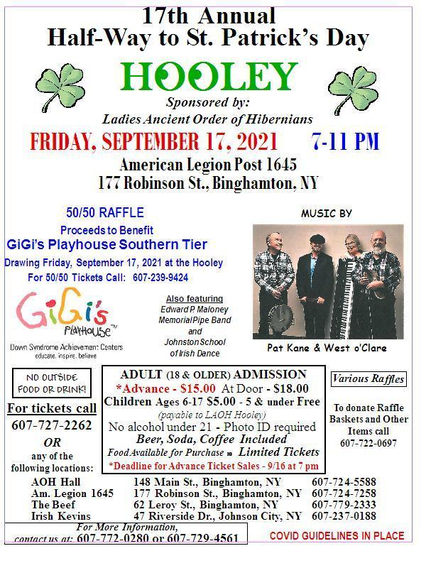 17th Annual Half-Way to St. .Patrick's Day Hooley