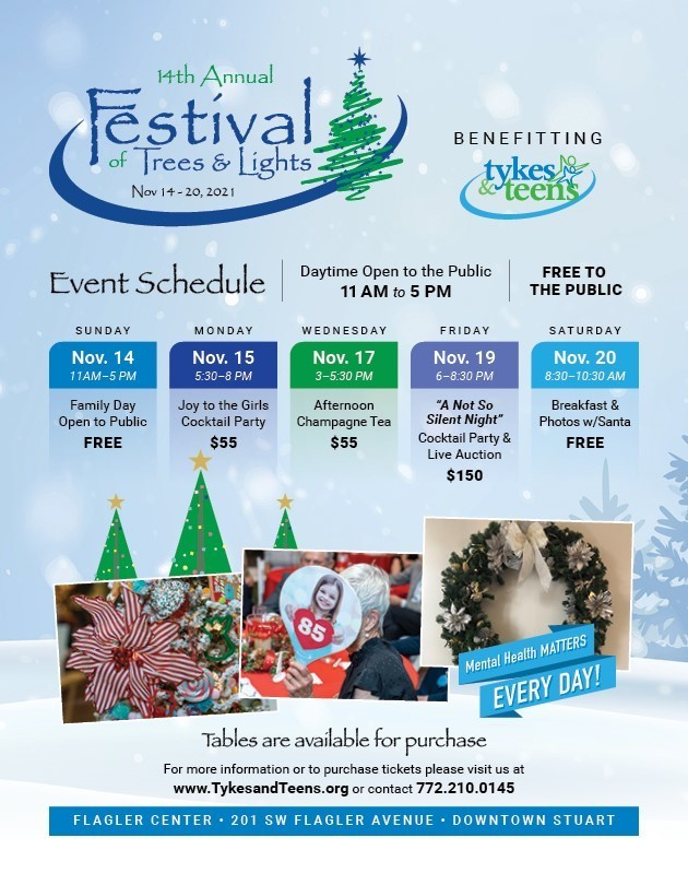 14th Annual Festival of Trees & Lights benefitting Tykes & Teens