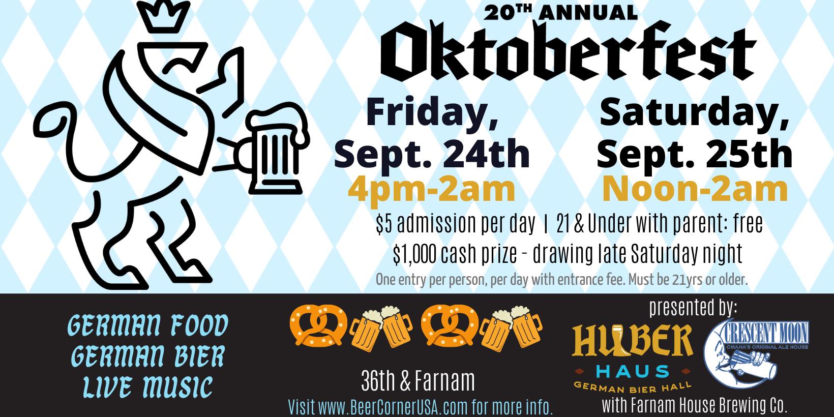 20th Annual Oktoberfest at Beer Corner USA