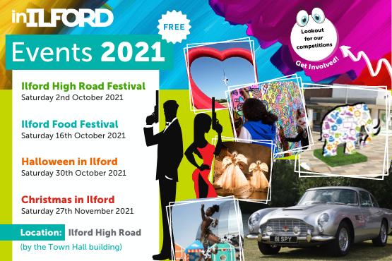 Ilford Town Centre Events Calendar 2021
