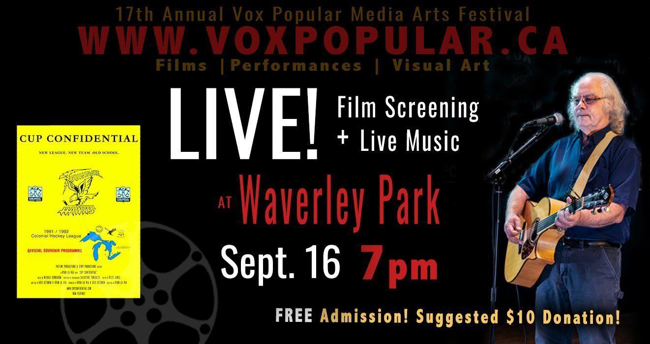LIVE at Waverley Park! Vox Popular Media Arts Festival