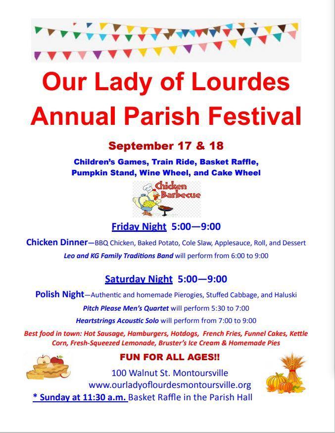 Our Lady of Lourdes Parish Festival