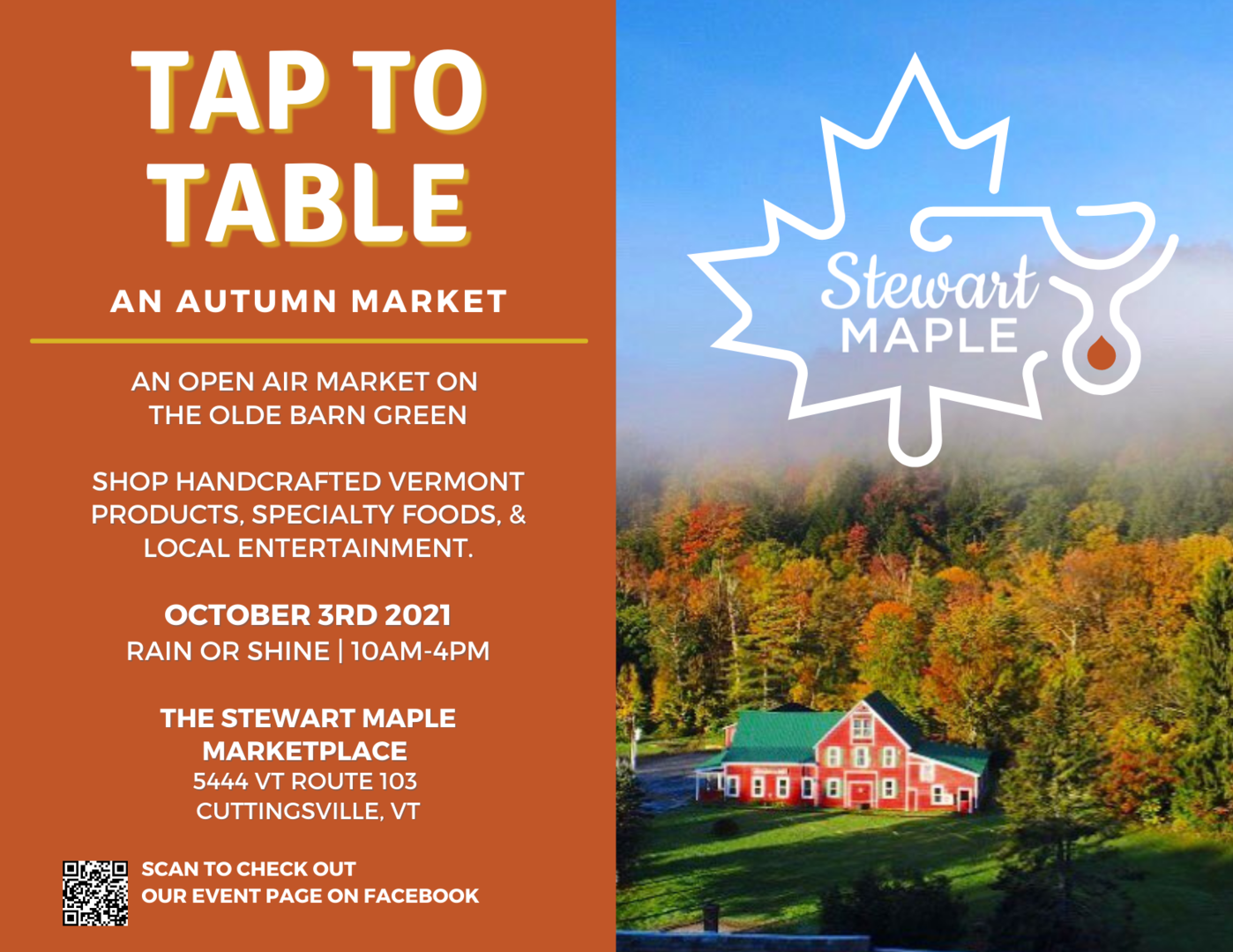 Tap to Table - An Autumn Market