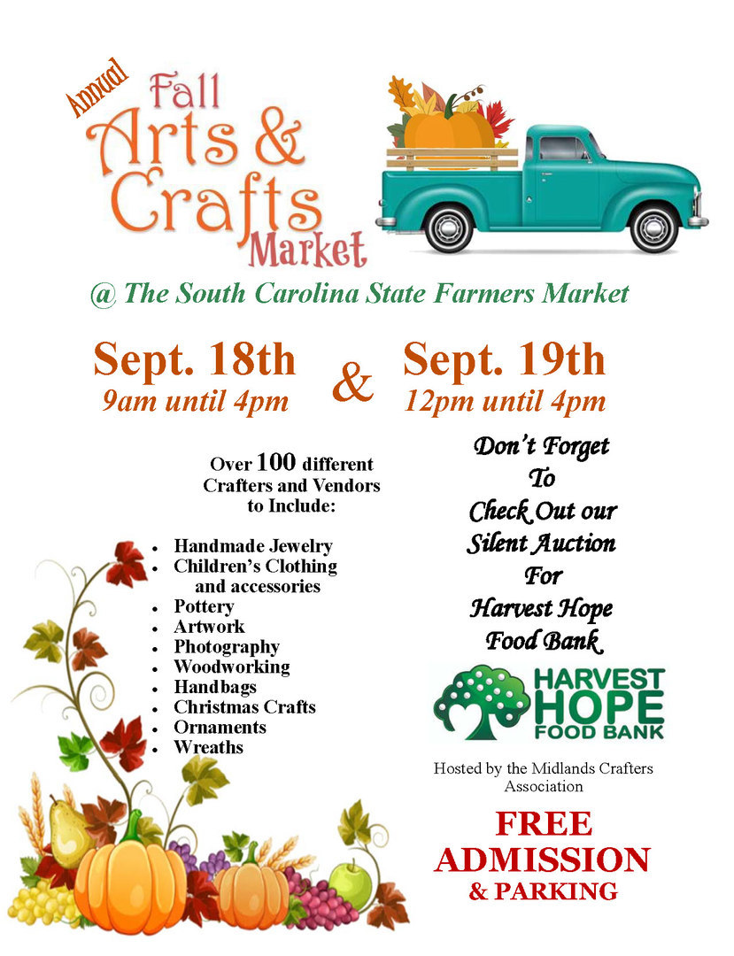 2021 Fall Arts & Crafts Market @ The SC State Farmers Market