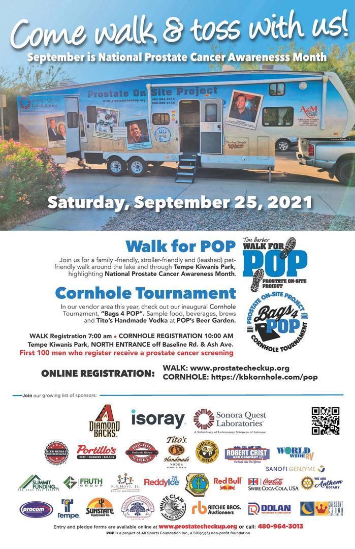 The 12th Annual Walk for POP-Inaugural Cornhole Tournament -Tito's & Beer Garden