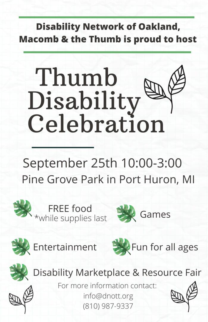 Thumb Disability Celebration