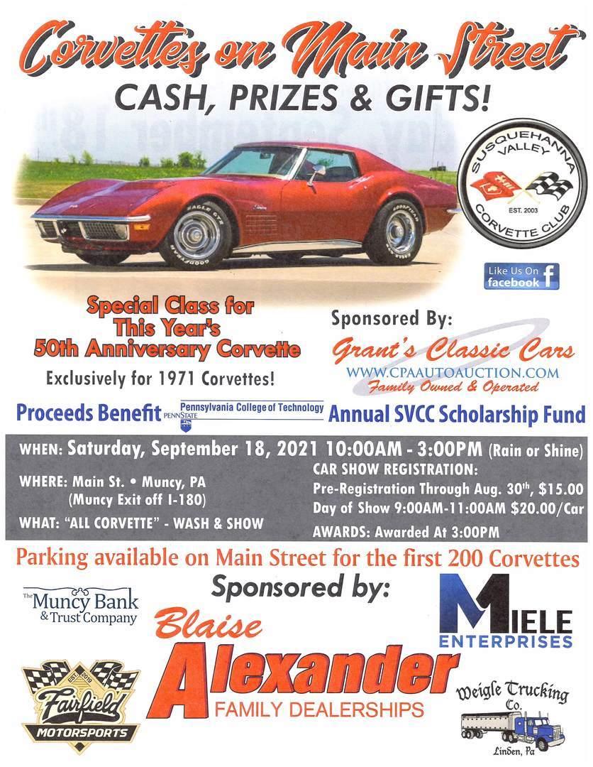 Corvettes on Main Street Car Show