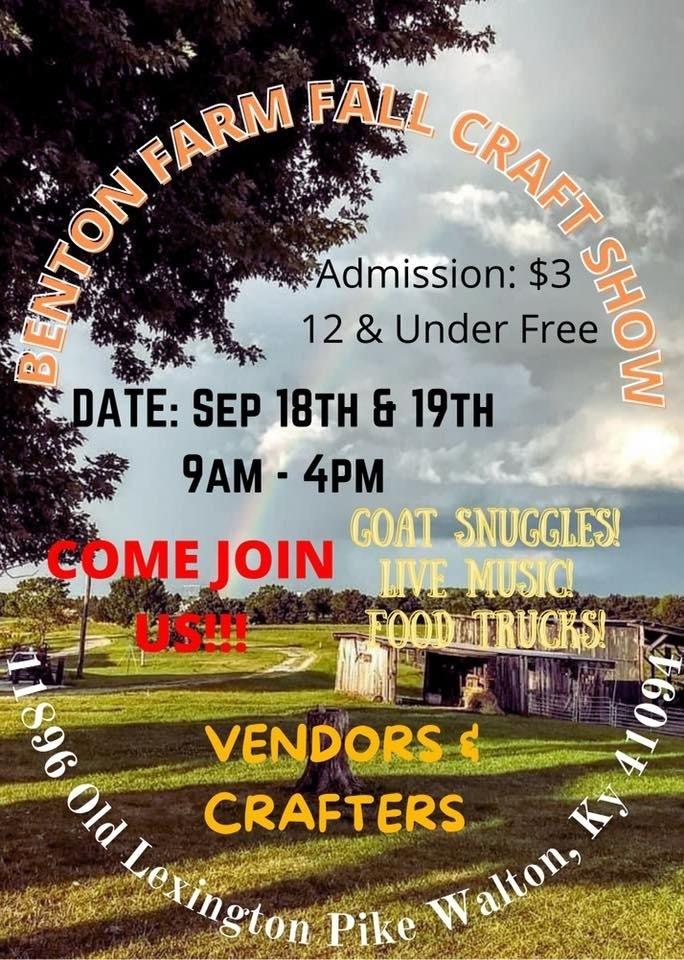 Benton Farm Fall Craft Show