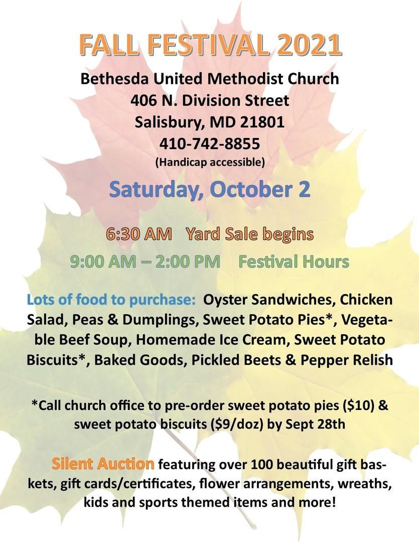 Fall Festival - Bethesda UMC