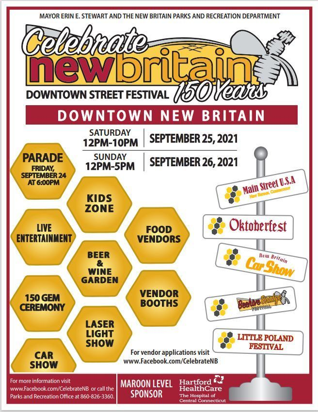 Celebrate New Britain 150 Years - Downtown Street Festival