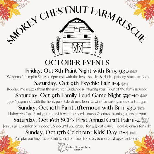 Smokey Chestnut Farm Octoberfest - Oct 9th Psychic Fair