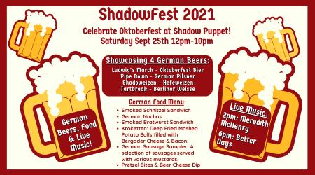 Shadowfest 2021 - An Oktoberfest Celebration at Shadow Puppet Brewing Company