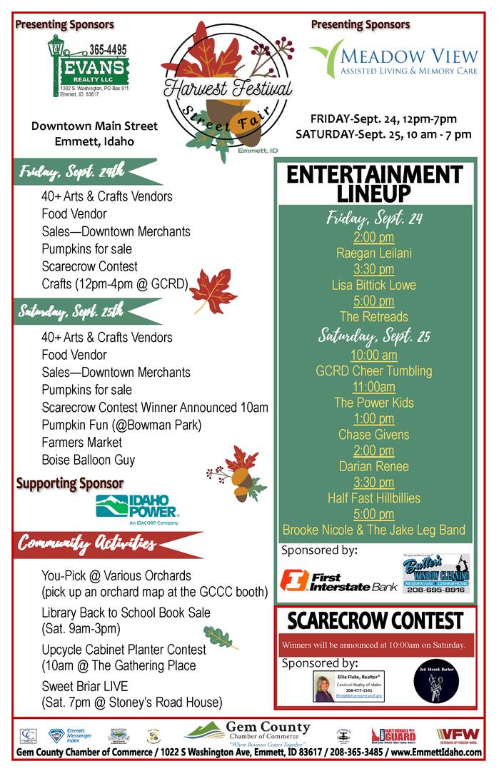 28th Annual Emmett Harvest Festival Street Fair