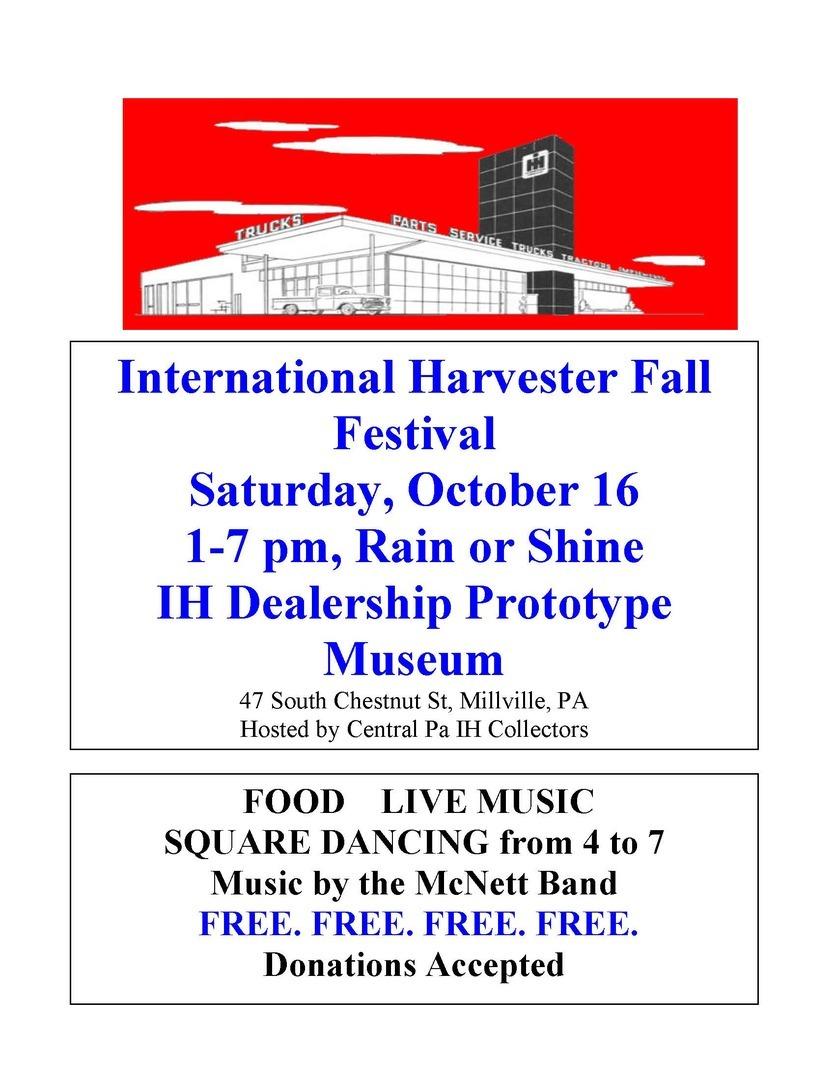 12th Annual International Harvester Fall Festival