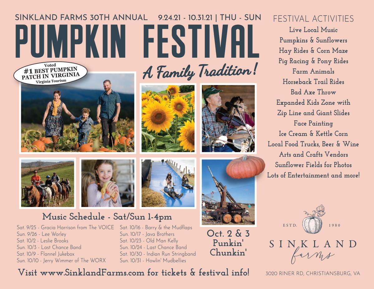 Sinkland Farms 30th Annual Pumpkin Festival