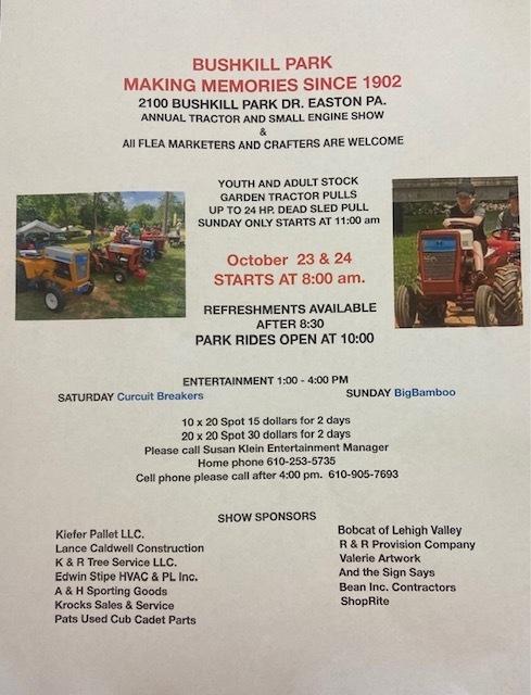 Bushkill Park Tractor and Vendor Show