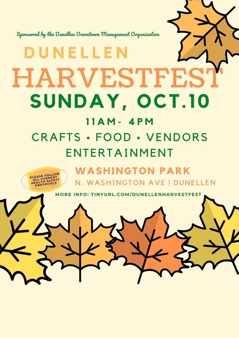 Dunellen HarvestFest - Crafts, Food, and Fun! | October 10, 2021