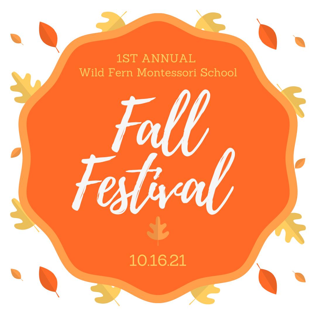 Fall Festival benefiting Wild Fern Montessori School