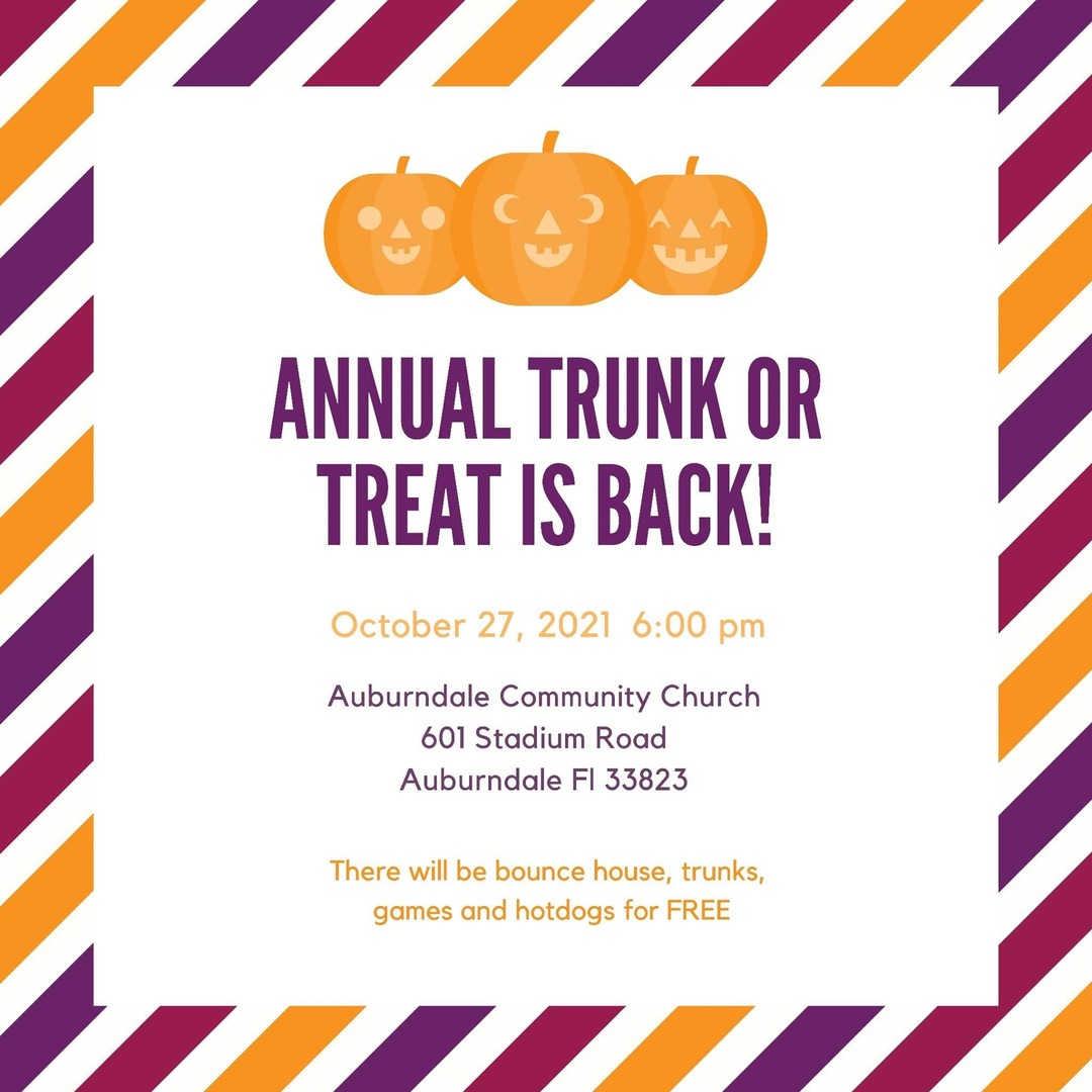 Annual Trunk or Treat Is Back!!!