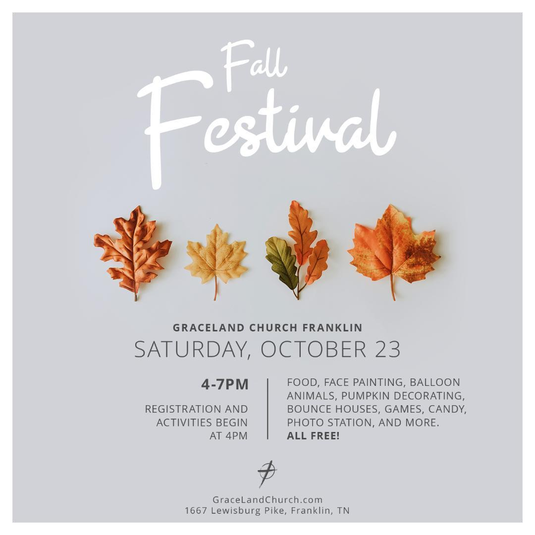 Graceland Church Franklin Fall Festival