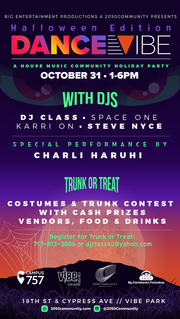 Free Outdoor Halloween Dance Party! Halloween Dance Vibe--A House Music Community Party in the Vibe