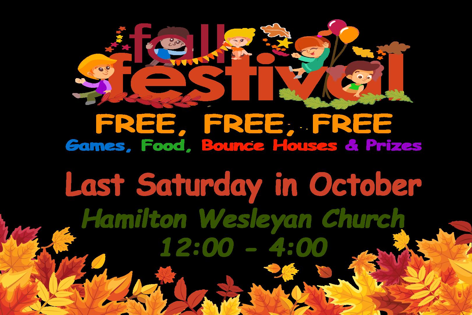 Hamilton Wesleyan Church Fall Fest 2021