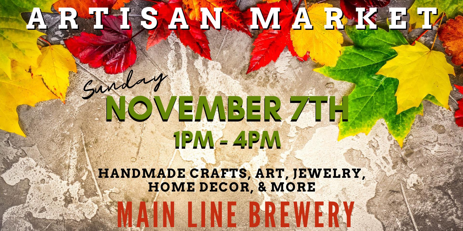 Sunday Artisan Market at Main Line Brewery