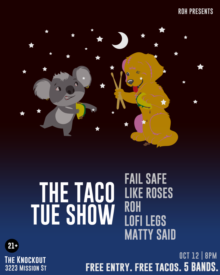 Taco Tue Punk Show: Free Tacos, 5 Bands, Free Entry